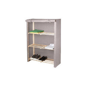 Photo of Tesco Recycled Fabric Covered 3 Shelf Unit Household Storage