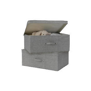 Photo of Tesco Recycled Fabric Folding Boxes 2 Pack Household Storage