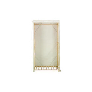 Photo of Tesco Canvas Covered Single Wardrobe Household Storage