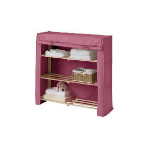 Photo of Tesco Kids Canvas Covered Shelves Pink Household Storage