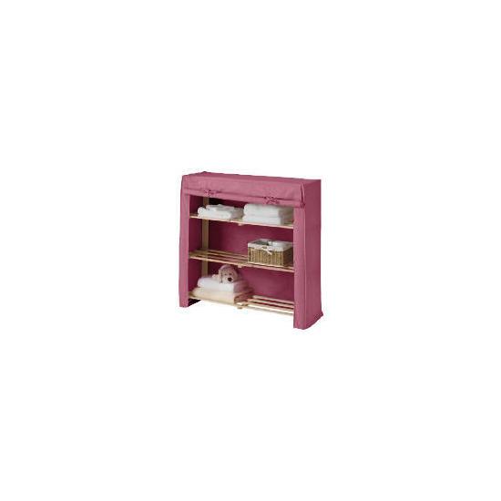 Tesco kids canvas covered shelves pink