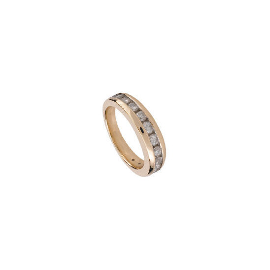 9ct Gold 1/2 Carat Diamond Eternity Ring, K