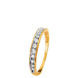 9ct Gold 1/4 Carat Diamond Half Eternity Ring Q Reviews