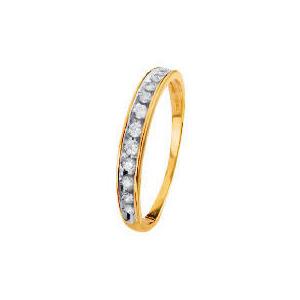 Photo of 9CT Gold 1/4 Carat Diamond Half Eternity Ring Q Jewellery Woman