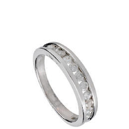 9ct White Gold 1/2 Carat Diamond Eternity Ring, P Reviews