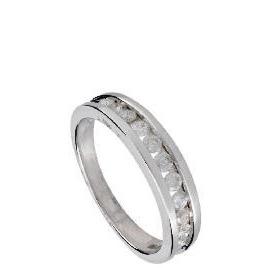 9ct White Gold 1/2 Carat Diamond Eternity Ring, P Reviews