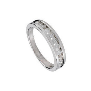 Photo of 9CT White Gold 1/2 Carat Diamond Eternity Ring, Q Jewellery Woman