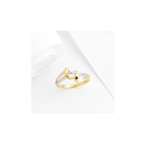 Photo of 9CT 2 Tone Gold Cubic Zirconia Ring, P Jewellery Woman