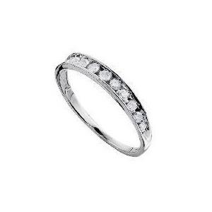 Photo of 9CT White Gold 1/4 Carat Diamond Half Eternity Ring K Jewellery Woman