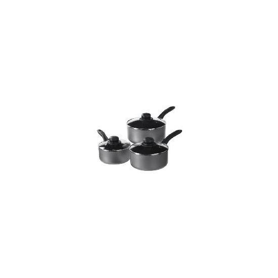 Tesco Non Stick Aluminium 3 Piece Pan Set