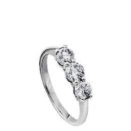 9ct white gold 1 carat diamond 3 stone ring J Reviews