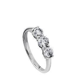 9ct white gold 1 carat diamond 3 stone ring J Reviews