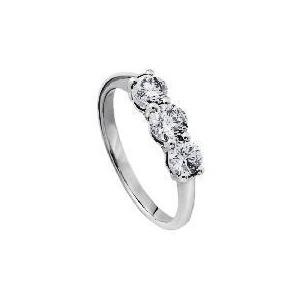 Photo of 9CT White Gold 1 Carat Diamond 3 Stone Ring J Jewellery Woman