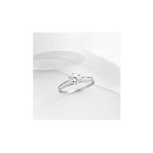Photo of 9CT White Gold Cubic Zirconia Ring,  P Jewellery Woman