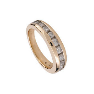 Photo of 9CT Gold 1/2 Carat Diamond Eternity Ring, L Jewellery Woman