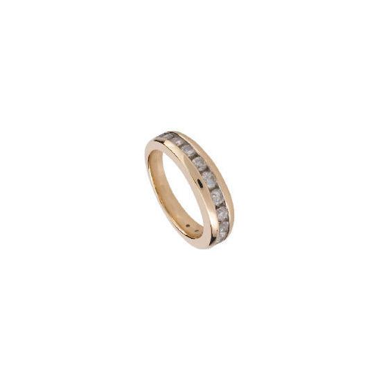 9ct Gold 1/2 Carat Diamond Eternity Ring, L