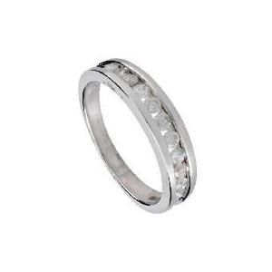 Photo of 9CT White Gold 1/2 Carat Diamond Eternity Ring, R Jewellery Woman