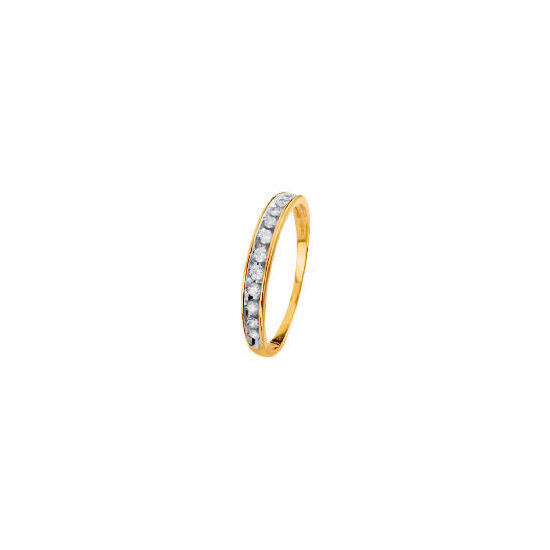 9ct Gold 1/4 Carat Diamond Half Eternity Ring P