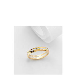 9ct Two Tone Gold Wedding Ring P Reviews