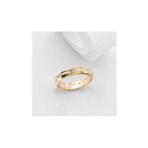 Photo of 9CT Two Tone Gold Wedding Ring P Jewellery Woman
