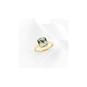 Photo of 9CT Gold Green Amethyst Ring L Jewellery Woman