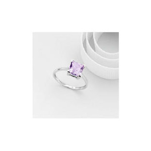 Photo of 9CT White Gold Amethyst Ring L Jewellery Woman