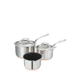 Tesco Finest Copper Base 3 Piece Pan Set Reviews