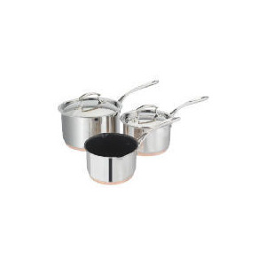Photo of Tesco Finest Copper Base 3 Piece Pan Set Cookware