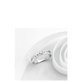 9ct white gold cubic zirconia ring J Reviews