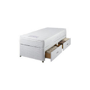 Photo of Sealy Posturepedic Ultra Memory Superior Single 2 Drawer Divan Set Bedding