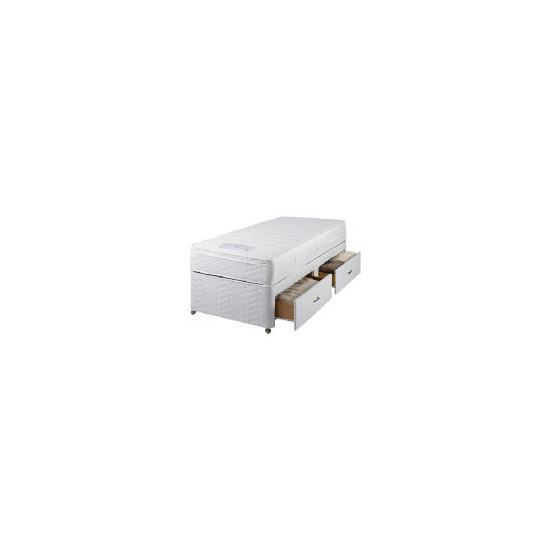 Sealy Posturepedic Ultra Memory Superior Single 2 Drawer divan set