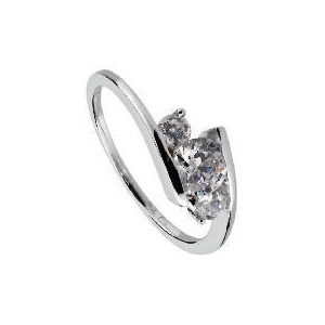Photo of 9CT White Gold Cubic Zirconia Ring  K Jewellery Woman