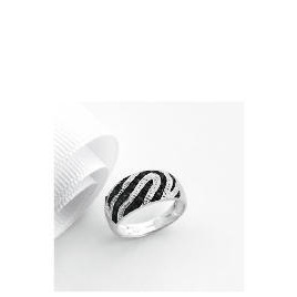 9ct white gold 10points black and white diamond ring L Reviews
