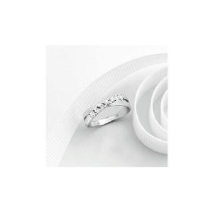 Photo of 9CT White Gold Cubic Zirconia Ring P Jewellery Woman
