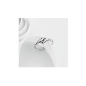 Photo of 9CT White Gold 15PT Diamond Cluster Ring L Jewellery Woman