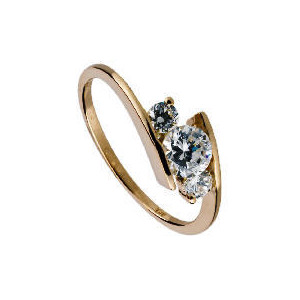 Photo of 9CT Gold Cubic Zirconia Ring L Jewellery Woman