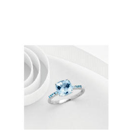 9ct white gold blue topaz ring P Reviews