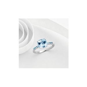 Photo of 9CT White Gold Blue Topaz Ring P Jewellery Woman