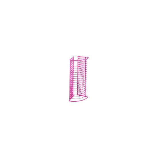 Oscar Wiremesh Pink CD Rack