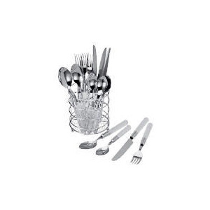 Photo of Tesco Cutlery Set In Caddy 16 Pieces Kitchen Utensil