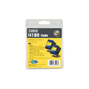 Photo of Tesco H180 Colour Twin Pack Ink Ink Cartridge