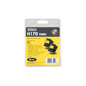 Photo of Tesco H170 Black Twin Pack Ink Ink Cartridge