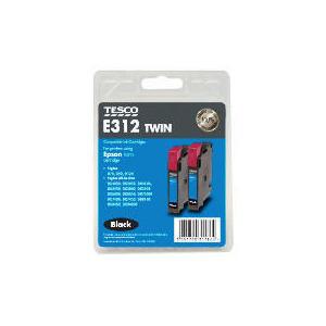Photo of Tesco E312 Black Twin Pack Ink Ink Cartridge