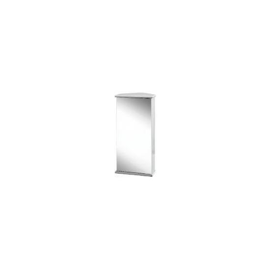 White wood corner cabinet