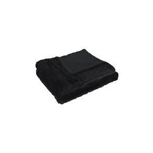 Photo of Ribbed Faux Fur Throw Black Cushions and Throw