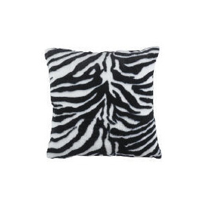Photo of Zebra Faux Fur Cushion Cushions and Throw