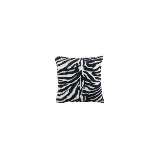 zebra faux fur cushion