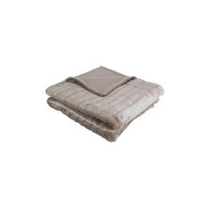 Photo of Ribbed Faux Fur Throw Taupe Cushions and Throw