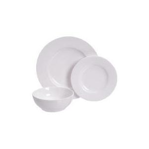 Photo of Tesco Ripple Design Tableware Set 12 Piece Dinnerware