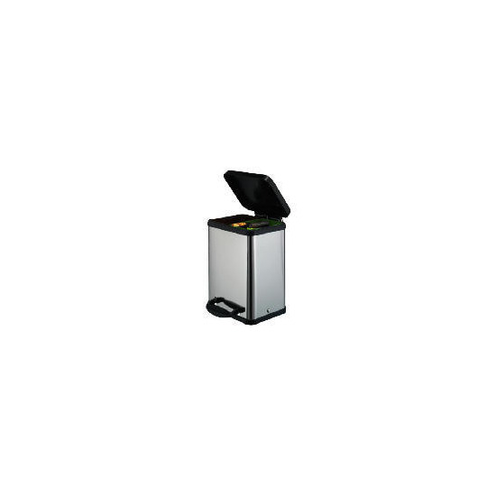 Stainless steel duo recycle bin